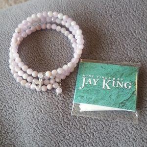 Authentic Jay King pink kunzite stretch bracelet
